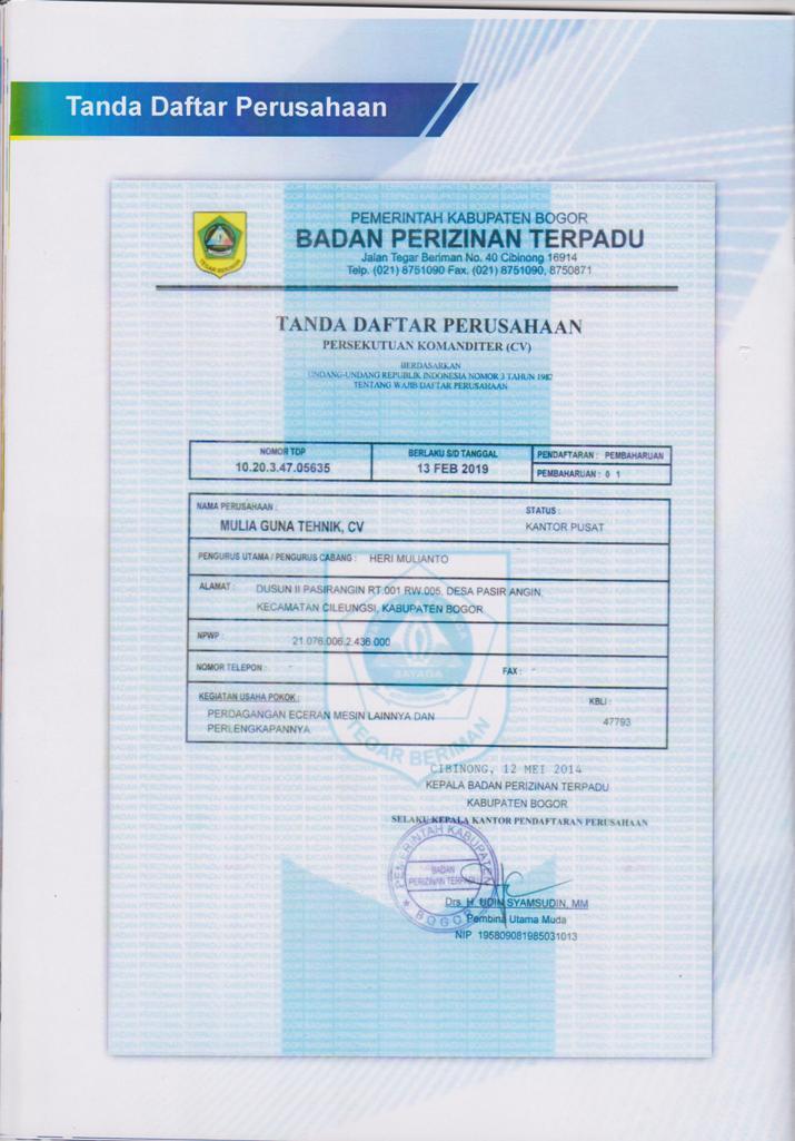 Company Profil 21 001